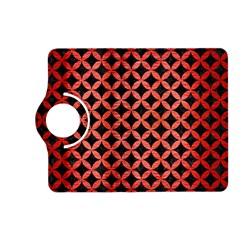 Circles3 Black Marble & Red Brushed Metal (r) Kindle Fire Hd (2013) Flip 360 Case by trendistuff