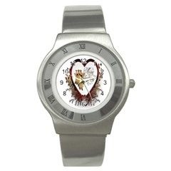 Christmas D¨|cor Decoration Winter Stainless Steel Watch by Onesevenart