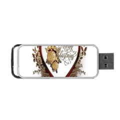 Christmas D¨|cor Decoration Winter Portable Usb Flash (two Sides) by Onesevenart