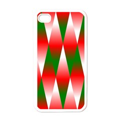 Christmas Geometric Background Apple Iphone 4 Case (white) by Onesevenart