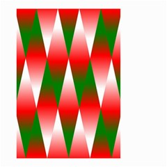 Christmas Geometric Background Small Garden Flag (two Sides) by Onesevenart