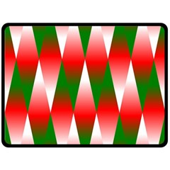 Christmas Geometric Background Double Sided Fleece Blanket (large)  by Onesevenart