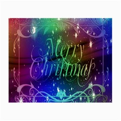 Christmas Greeting Card Frame Small Glasses Cloth (2 Side) by Onesevenart