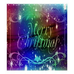 Christmas Greeting Card Frame Shower Curtain 66  X 72  (large)  by Onesevenart