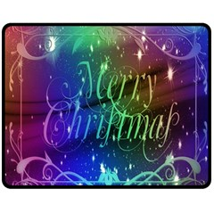 Christmas Greeting Card Frame Fleece Blanket (medium)  by Onesevenart