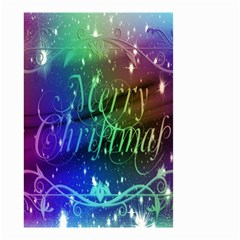 Christmas Greeting Card Frame Small Garden Flag (two Sides) by Onesevenart