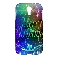 Christmas Greeting Card Frame Samsung Galaxy S4 I9500/i9505 Hardshell Case by Onesevenart