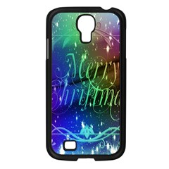 Christmas Greeting Card Frame Samsung Galaxy S4 I9500/ I9505 Case (black) by Onesevenart