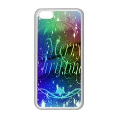 Christmas Greeting Card Frame Apple Iphone 5c Seamless Case (white) by Onesevenart