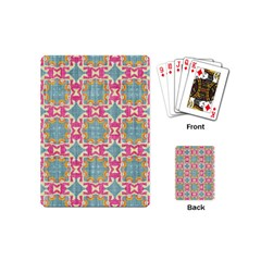 Christmas Holidays Seamless Pattern Playing Cards (mini)  by Onesevenart