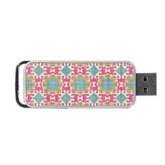 Christmas Holidays Seamless Pattern Portable Usb Flash (one Side) by Onesevenart