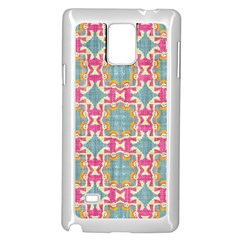 Christmas Holidays Seamless Pattern Samsung Galaxy Note 4 Case (white) by Onesevenart