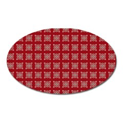 Christmas Paper Wrapping Paper Oval Magnet by Onesevenart