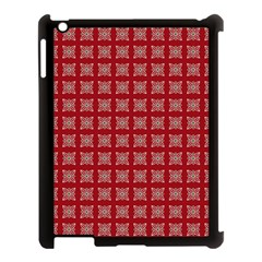 Christmas Paper Wrapping Paper Apple Ipad 3/4 Case (black) by Onesevenart
