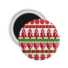 Christmas Icon Set Bands Star Fir 2 25  Magnets by Onesevenart