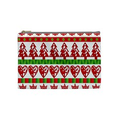 Christmas Icon Set Bands Star Fir Cosmetic Bag (medium)  by Onesevenart
