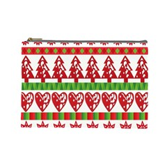 Christmas Icon Set Bands Star Fir Cosmetic Bag (large)  by Onesevenart