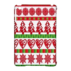 Christmas Icon Set Bands Star Fir Apple Ipad Mini Hardshell Case (compatible With Smart Cover) by Onesevenart