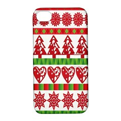 Christmas Icon Set Bands Star Fir Apple Iphone 4/4s Hardshell Case With Stand by Onesevenart