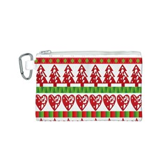 Christmas Icon Set Bands Star Fir Canvas Cosmetic Bag (s) by Onesevenart