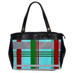 Christmas Plaid Backgrounds Plaid Office Handbags by Onesevenart
