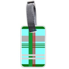 Christmas Plaid Backgrounds Plaid Luggage Tags (one Side)  by Onesevenart