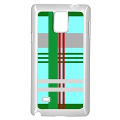Christmas Plaid Backgrounds Plaid Samsung Galaxy Note 4 Case (white) by Onesevenart