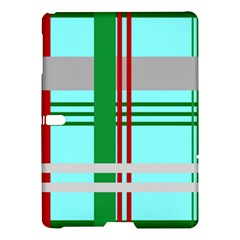 Christmas Plaid Backgrounds Plaid Samsung Galaxy Tab S (10 5 ) Hardshell Case  by Onesevenart