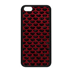 Scales3 Black Marble & Red Leather (r) Apple Iphone 5c Seamless Case (black) by trendistuff