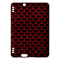 Scales3 Black Marble & Red Leather (r) Kindle Fire Hdx Hardshell Case by trendistuff