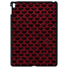 Scales3 Black Marble & Red Leather (r) Apple Ipad Pro 9 7   Black Seamless Case by trendistuff