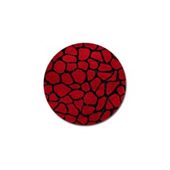 Skin1 Black Marble & Red Leather (r) Golf Ball Marker by trendistuff