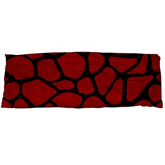 Skin1 Black Marble & Red Leather (r) Body Pillow Case Dakimakura (two Sides) by trendistuff
