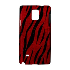 Skin3 Black Marble & Red Leather Samsung Galaxy Note 4 Hardshell Case by trendistuff