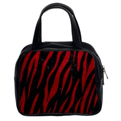 Skin3 Black Marble & Red Leather (r) Classic Handbags (2 Sides) by trendistuff