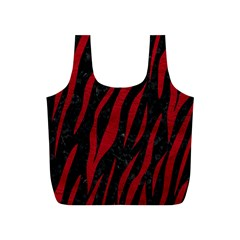 Skin3 Black Marble & Red Leather (r) Full Print Recycle Bags (s)  by trendistuff