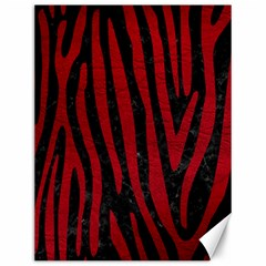 Skin4 Black Marble & Red Leather Canvas 12  X 16   by trendistuff