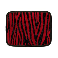 Skin4 Black Marble & Red Leather Netbook Case (small)  by trendistuff