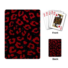 Skin5 Black Marble & Red Leather Playing Card by trendistuff