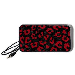 Skin5 Black Marble & Red Leather Portable Speaker by trendistuff