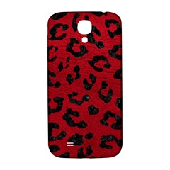 Skin5 Black Marble & Red Leather (r) Samsung Galaxy S4 I9500/i9505  Hardshell Back Case by trendistuff