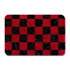 Square1 Black Marble & Red Leather Plate Mats by trendistuff