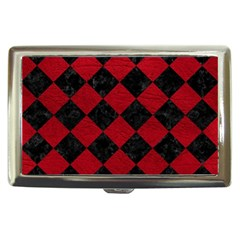 Square2 Black Marble & Red Leather Cigarette Money Cases by trendistuff