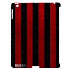 Stripes1 Black Marble & Red Leather Apple Ipad 3/4 Hardshell Case (compatible With Smart Cover) by trendistuff