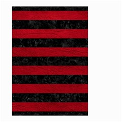Stripes2 Black Marble & Red Leather Small Garden Flag (two Sides) by trendistuff