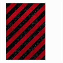 Stripes3 Black Marble & Red Leather (r) Small Garden Flag (two Sides) by trendistuff