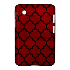 Tile1 Black Marble & Red Leather Samsung Galaxy Tab 2 (7 ) P3100 Hardshell Case  by trendistuff