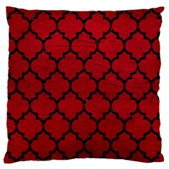 Tile1 Black Marble & Red Leather Large Flano Cushion Case (two Sides) by trendistuff