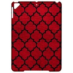 Tile1 Black Marble & Red Leather Apple Ipad Pro 9 7   Hardshell Case