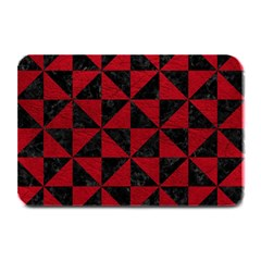 Triangle1 Black Marble & Red Leather Plate Mats by trendistuff